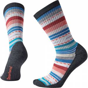 Smartwool Women's Hike Light Margarita Crew Sock - Small - Black / Multi