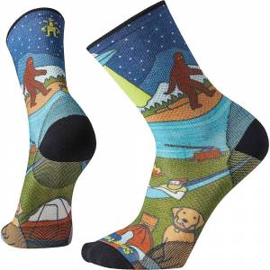 Smartwool PhD Outdoor Ultra Light Monster Camping Crew Sock - XL - Multi Color
