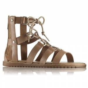 Sorel Women's Ella Lace Up Sandal - 8.5 - Sahara