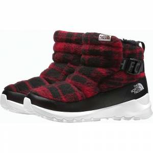 The North Face Women's ThermoBall Pull-On Wool Boot - 6 - TNF Black/TNF Red Plaid