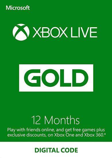 Microsoft Xbox Live Gold 12 months Xbox Live Key GLOBAL