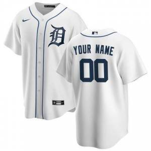 Nike Detroit Tigers Nike Youth 2020 Home Replica Custom Jersey - White