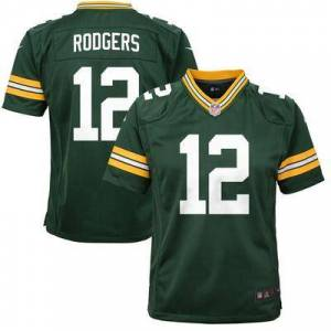 Nike Aaron Rodgers Green Bay Packers Nike Youth Game Jersey -