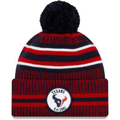 New Era Houston Texans New Era 2019 NFL Sideline Home Official Sport Knit Hat - Navy/Red