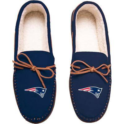 FOCO New England Patriots Big Logo Moccasin Slippers