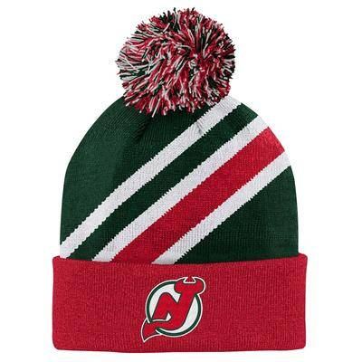 Outerstuff New Jersey Devils Youth Special Edition Cuffed Pom Knit Hat - Green