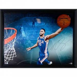 """""""Upper Deck"""""" """"""Ben Simmons Philadelphia 76ers Framed Autographed 52"""" x 40"""" Breaking Through Photograph - Limited Edition #1 of 125 Upper Deck"""""""