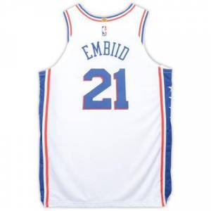 """""""""""""""Fanatics Authentic"""""""""""" """"""""""""Joel Embiid Philadelphia 76ers Player-Issued #21 White Jersey from the 2018-19 NBA Season - Size 52+4"""""""""""""""