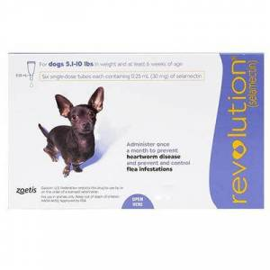 Revolution for Very Small Dogs 5.1-10 lbs 3 Doses Purple Pack