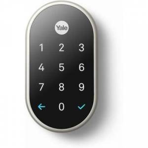 Nest Yale Satin Nickel Lock with Nest Connect