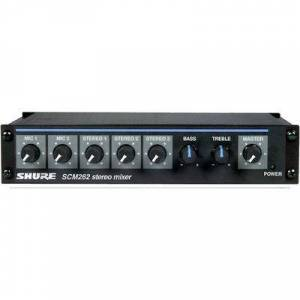 Shure Stereo Mixer Two Mic Connections 3 Stereo sources