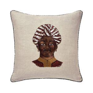 Iosis Zanzibar Grenat Decorative Pillow by Iosis