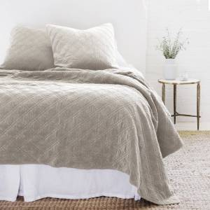 Pom Pom at Home Brussels Taupe Coverlets & Shams