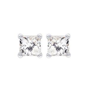 FrostNYC Princess Cut Diamond Stud Earrings For Men / 14K White Gold / 0.25 Carats