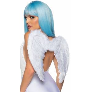 Leg Avenue Forever Dreaming Angel Feather Wings by Leg Avenue, White - Yandy.com