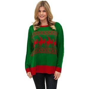 Forum Novelties Reindeer Games Sweater by Forum Novelties, Green, Size L / Ugly Christmas Sweater, Mens Christmas Sweater, Funny Christmas Sweater - Yandy.com