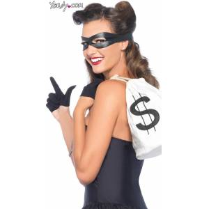 Leg Avenue Bandit Costume Kit by Leg Avenue, Black / Sexy Robber Costume, Bank Robber Costume - Yandy.com