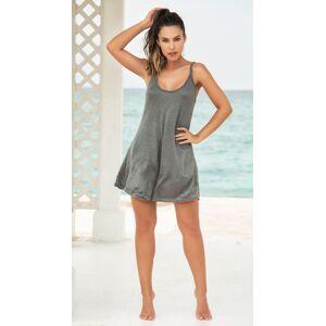 Mapale Sol Mate Lace Back Dress by Mapale, Grey, Size S - Yandy.com