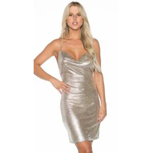 Shirley of Hollywood Dirty Stay Out Club Dress by Shirley of Hollywood, Silver, Size S - Yandy.com