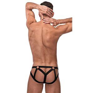 Male Power Men's Strappy O-Ring Jock by Male Power, Black, Size L/XL - Yandy.com
