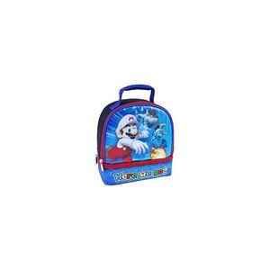 Nintendo Lunch Box - Super Mario Brothers - Insulated - Dual Zipper - Blue