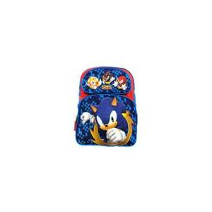 Accessory Innovations Backpack - Sonic the Hedgehog - Large 16 Inch - Blue - Punching