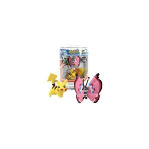 "TOMY Pokemon 2-Pk Small 2"" Toy Plastic Action Figure - Pikachu vs. Vivillon"