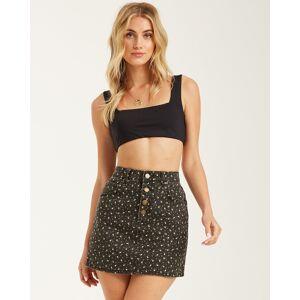 Billabong Cute As A Button Skirt  - Black - Size: 29