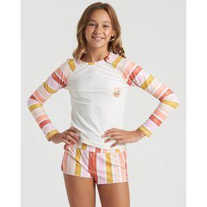 Billabong Girls' So Stoked Long Sleeve Rashguard  - White - Size: Extra Small