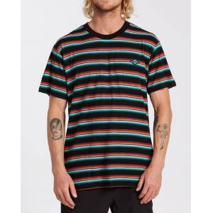 Billabong Die Cut Stripe Short Sleeve Crew T-Shirt  - Black - Size: Extra Large