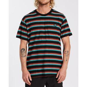 Billabong Die Cut Stripe Short Sleeve Crew T-Shirt  - Black - Size: Large