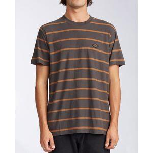 Billabong Die Cut Stripe Short Sleeve Crew T-Shirt  - Black - Size: Medium