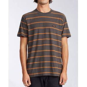 Billabong Die Cut Stripe Short Sleeve Crew T-Shirt  - Black - Size: Large