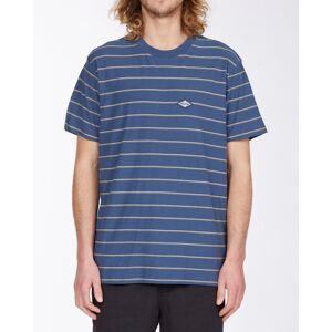 Billabong Die Cut Stripe Short Sleeve Crew T-Shirt  - Blue - Size: Medium