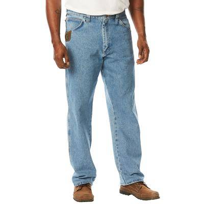 Wrangler Men's Big & Tall Wrangler Denim or Ripstop Carpenter Jeans by in Vintage Indigo (50 x 32) Cotton/Leather
