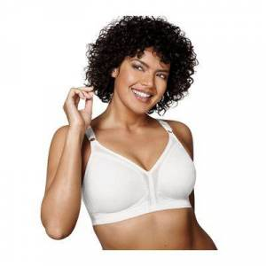Playtex Plus Size Women's 18 Hour Sensational Support Wirefree Bra (20/27) by Playtex in White (40 C)
