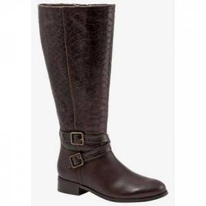 Trotters Women's Liberty Boot by Trotters in Dark Brown Snake (11 M)