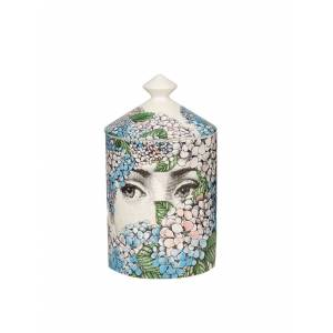 Fornasetti Ortensia 300G Candle in White