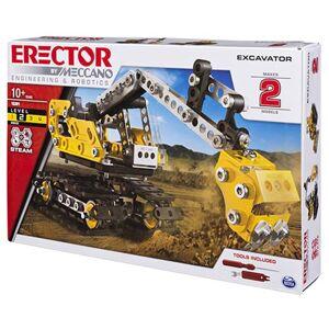 Spin Master Erector by Meccano 2-in-1 Excavator & Bulldozer Building Kit