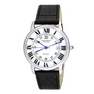 Steinhausen Delmonte White Dial Black Leather Men's Watch S0718