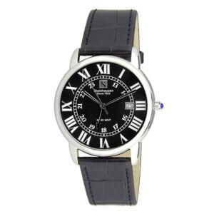Steinhausen Delmonte Black Dial Silver Tone Men's Watch S0719