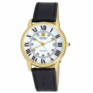 Steinhausen Delmonte White Dial Gold Tone Men's Watch S0720