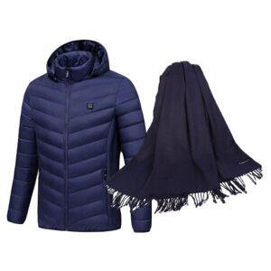 Caldo Heated Women's Jacket and Matching Pashmina Scarf Set  size: