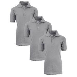 Galaxy by Harvic Back To School Boy's Short Sleeve School Uniform Pique Polo Shirts - 3 Pack