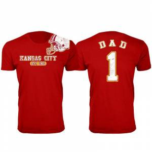Cotton Thugs Men's Dad #1 Awesome Football Helmet T-Shirts  size: