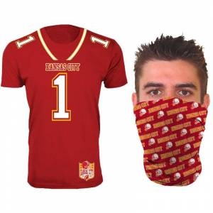 Generic Men's Football Team Jersey T-Shirt with Gaiter  size: