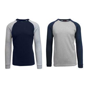 Galaxy by Harvic Men's Raglan Thermal Shirt - 2 Pack