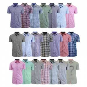 Galaxy By Harvic Men's Mystery Dress Shirt - Short or Long-Sleeve Options  size: