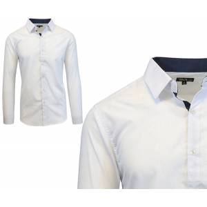 Galaxy By Harvic Long Sleeve Dress Shirt For Men  size: