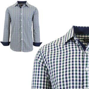 Galaxy by Harvic Mens Long Sleeve Gingham & Checkered Dress Shirts